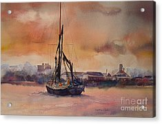 Acrylic Print featuring the painting At Rest On The Thames London by Beatrice Cloake