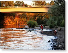 Acrylic Print featuring the photograph At Rivers Edge by Melanie Lankford Photography