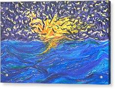 At Sea Acrylic Print by Mark Minier