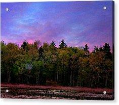 At Sunset Acrylic Print by Barbara S Nickerson