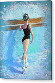 At The Barre Acrylic Print by Jackie Simmonds