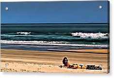 At The Beach Acrylic Print by Dave Bosse