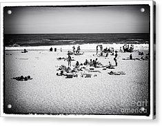 At The Beach Acrylic Print by John Rizzuto