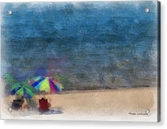 At The Beach Photo Art 03 Acrylic Print by Thomas Woolworth