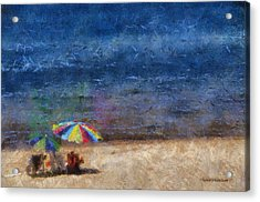 At The Beach Photo Art 04 Acrylic Print by Thomas Woolworth