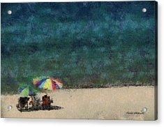 At The Beach Photo Art 05 Acrylic Print by Thomas Woolworth