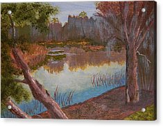 At The Bend On The Ocklawaha  Acrylic Print by Warren Thompson