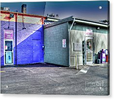 At The Bomber For Breakfast Acrylic Print by MJ Olsen