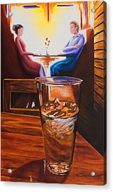 At The Cafe Acrylic Print