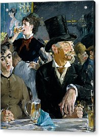 At The Cafe Concert Acrylic Print by Edouard Manet