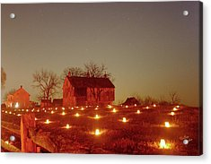 Acrylic Print featuring the photograph At The Cornfield 12 by Judi Quelland