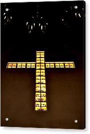 At The Cross Acrylic Print by Deena Stoddard