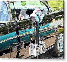 At The Drive In Acrylic Print by AJ  Schibig