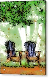 At The Edge Of The Woods Acrylic Print by David Blank