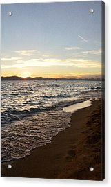 At The End Acrylic Print by Leah Moore