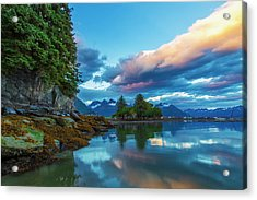 At The End Of Dock Point In Valdez, Low Acrylic Print
