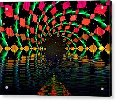 At The End Of The Tunnel Acrylic Print by Faye Symons
