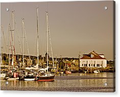 At The Harbor - Martha's Vineyard Acrylic Print by Kim Hojnacki