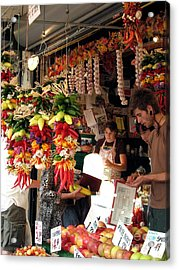 At The Market Acrylic Print by Chris Anderson
