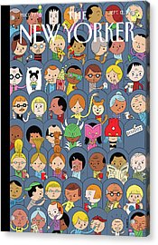 At The Movies Acrylic Print by Ivan Brunetti