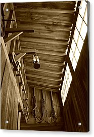 At The Museum - Sepia Acrylic Print