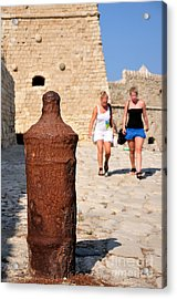 Old Fortress In Iraklio City Acrylic Print by George Atsametakis