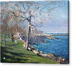At The Park By Lake Ontario Acrylic Print
