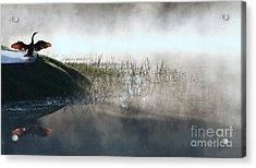At The Pond Acrylic Print by Monika A Leon