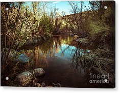 At The River Acrylic Print by Alexander Kunz