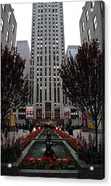 At The Rockefeller Center Acrylic Print by Christiane Schulze Art And Photography