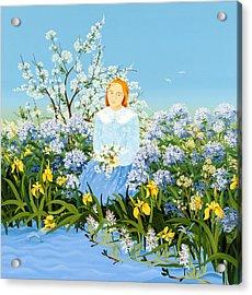 At The Shore Of Dreams Acrylic Print by Magdolna Ban