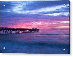Myrtle Beach State Park Pier Sunrise Acrylic Print by Vizual Studio