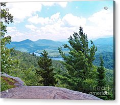 At The Summit Acrylic Print by Judy Via-Wolff