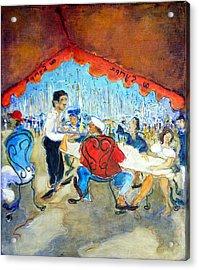At The Sympa Cafe - Original Sold Acrylic Print by Bernard RENOT