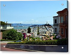 At The Top - Lombard Street Acrylic Print