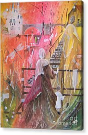 At The Top Of The Stairs Acrylic Print