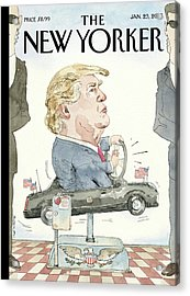 At The Wheel Acrylic Print by Barry Blitt