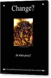 At What Price Acrylic Print