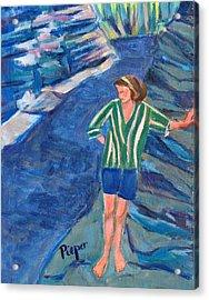 At Wintergreen Park Canajoharie 1957 Acrylic Print by Betty Pieper