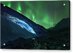 Athabasca Ice Burning Acrylic Print
