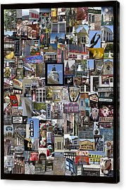 Athens Collage Acrylic Print by Sally Ross