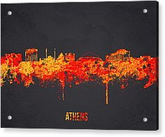 Athens Greece Acrylic Print by Aged Pixel