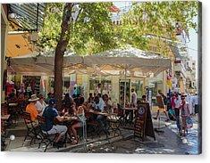 Athens, Greece.  Scene In Plaka Acrylic Print by Ken Welsh