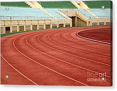 Athletic Track And Field Markings Acrylic Print