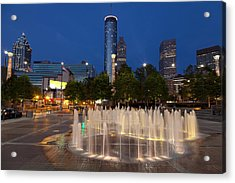 Atlanta By Night Acrylic Print by Alexey Stiop