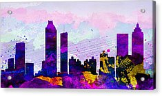 Atlanta City Skyline Acrylic Print by Naxart Studio