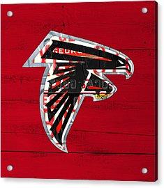 Atlanta Falcons Football Team Retro Logo Georgia License Plate Art Acrylic Print