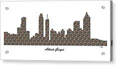 Atlanta Georgia 3d Stone Wall Skyline Acrylic Print