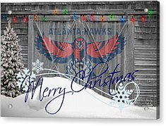 Atlanta Hawks Acrylic Print by Joe Hamilton
