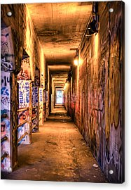 Acrylic Print featuring the photograph Atlanta Krog St Tunnel. by Anna Rumiantseva